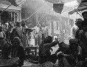 A souk (traditional market) in Mosul city northern Iraq, 1932