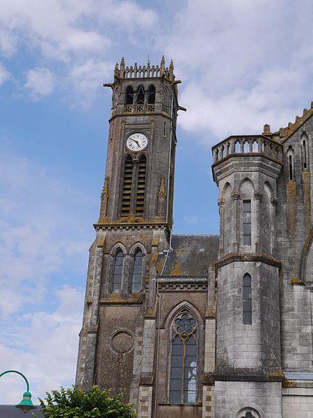 Le clocher de l'abbaye.