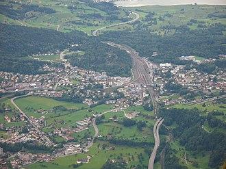 Goldau - Goldau viewed from Rigi Kulm