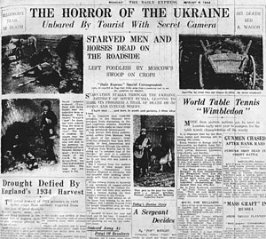Holodomor - Daily Express, August 6, 1934