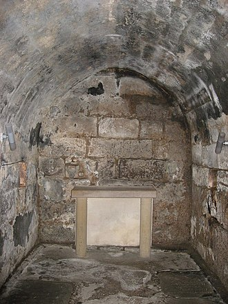 Wilfrid - 7th-century crypt at Hexham monastery, where Wilfrid may have deposited any relics he brought back from the continent