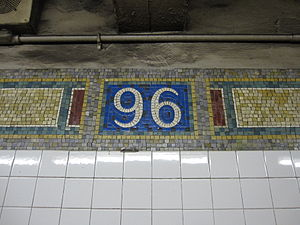 96th Street (IRT Lexington Avenue Line) - Image: 96th Street IRT 002