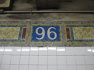 96th Street (IRT Lexington Avenue Line) - Image: 96th Street IRT 002