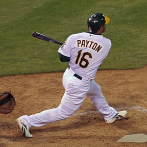 Jay Payton - Payton batting for the Athletics on April 3, 2006.