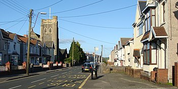 English: A4240 Alexandra Road, Gorseinon The c...