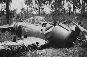 Hajime Toyoshima - Toyoshima's crashed aircraft