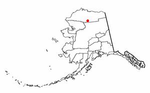Anaktuvuk Pass, Alaska - Image: AK Map doton Anaktuvuk Pass