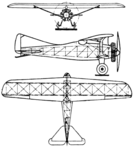 AME IX Jupiter motor 3-view Le Document aéronautique May,1927.png