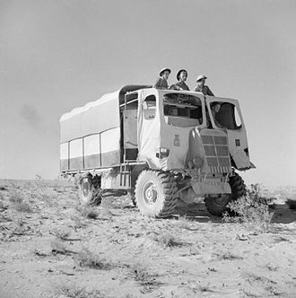Deacon (artillery) - Image: A 6 pdr anti tank gun portee, camouflaged to look like an ordinary lorry, North Africa, 27 October 1942. E18647