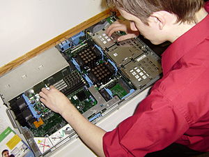 Centriq Training - Image: A Centriq Training Student works with hardware