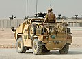 A Jackal Armoured Vehicle is put through it's paces in the desert at Camp Bastion, Afghanistan MOD 45148178.jpg