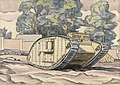 A Mark Iv Female Tank - the Experimental Ground, Dollis Hill, London, N.w. Art.IWMART3059.jpg