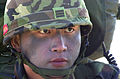 A ROK (Republic of Korea) Marine Lance Cpl. mans a hasty fighting position during an amphibious assault by ROK and U.S. Marines on Tok Sok Ri beach, north of Pohang, Korea on March 23, 2002 as part of Exercise 020323-A-MX570-128.jpg