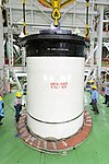 A View of two joined segment of PSLV-C44 Core Stage at Mobile Service Tower.jpg