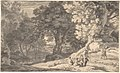 A Wooded Landscape with Travellers by the Roadside, a Stream beyond MET DP800686.jpg