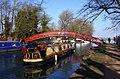 A barge going under Rainbow Bridge - geograph.org.uk - 1760215.jpg