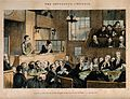 A convicted thief stands on trial in a packed law court whil Wellcome V0019426.jpg