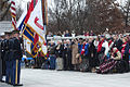 A joint service honor guard presents the colors during a Pearl Harbor remembrance ceremony 121207-D-TT930-002.jpg