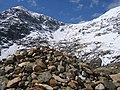A walk up the Pyg track - a cairn and a view - geograph.org.uk - 773308.jpg