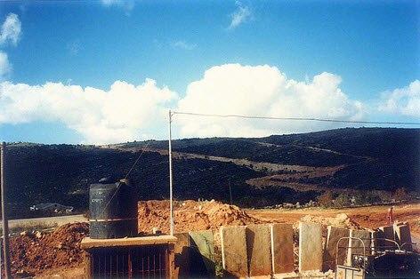 Aaichiye IDF militay post view towards Shamis al urqub sounth lebanon 1997