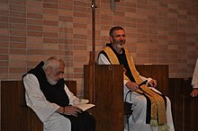 Abbot Francis Michael And Prior Anthony Delisi On The Left Of Monastery Holy Spirit A Trappist In Conyers Georgia US