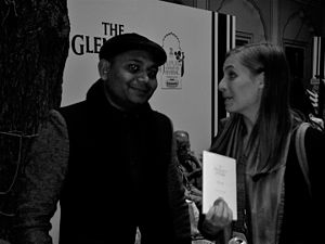 Abhay Kumar - Abhay K and Eleanor Catton at JLF 2015