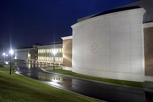 Academy of the Holy Cross - Image: Academy of the Holy Cross at Night