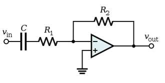 High-pass filter - Figure 2: An active high-pass filter