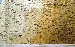 Al-Dawayima - Map with Al-Dawayima dated 1894. Center, level with Hebron.