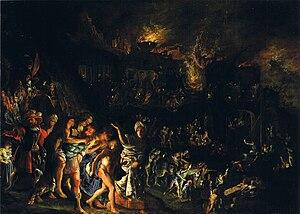 Adam Elsheimer - The burning of Troy, c. 1604, Alte Pinakothek, 36 x 50 cm