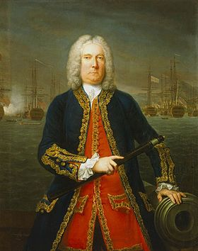 Admiral Thomas Mathews, 1743, par Claude Arnulphy.