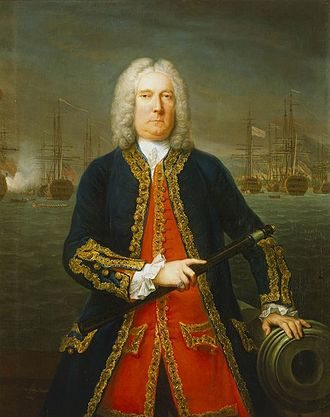 Thomas Mathews - Admiral Thomas Mathews, 1743, by Claude Arnulphy.