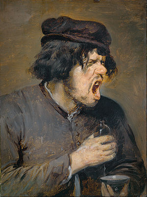 Disgust - Adriaen Brouwer's The Bitter Tonic, depicting a man's response of disgust to a beverage