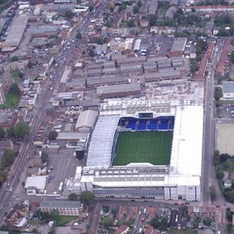 Tottenham Hotspur Stadium - Aerial view of White Hart Lane, demolished in 2017. A great part of the area in view would be redeveloped in the new stadium project.