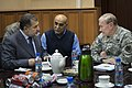 Afghan Minister of Defense Bismillah Khan Mohammadi, left, meets with Chairman of the Joint Chiefs of Staff Gen. Martin E. Dempsey, right, in Bagram, Afghanistan, on Dec 121215-D-VO565-027.jpg