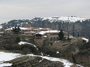 Monastery of the Holy Trinity, Meteora - Image: Agia Triada Meteora