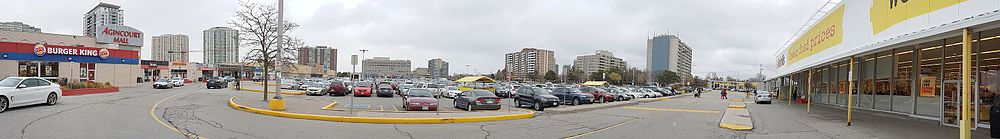 View of parking lot at Agincourt Mall
