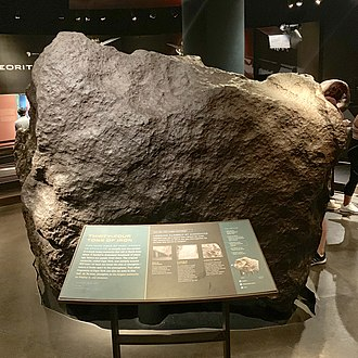 """Cape York meteorite - The """"Ahnighito"""" fragment, weighing 31 t,  in the American Museum of Natural History"""
