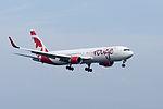 Air Canada Rouge, B767-300, C-FMWU (18264501890).jpg