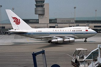 Air China - Air China 747SP at Zürich Airport (1992)