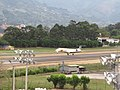 Airplane Landing at Olaya Herrera Airport (4451914466).jpg
