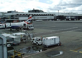 Glasgow Airport - Apron view