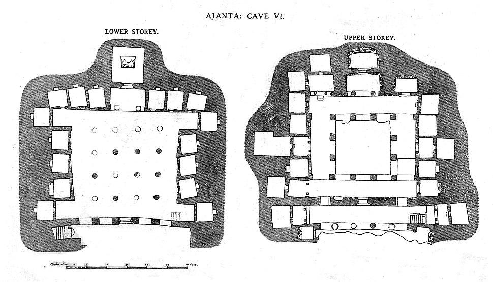 Ajanta Cave 6 plan