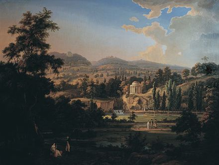 A view of plant life that Haydn knew well. Albert Christoph Dies created this painting of the beautiful palace gardens in Eisenstadt, the property of their shared employer Prince Esterhazy. Dies also penned a Haydn biography. Albert Christoph Dies 001.jpg