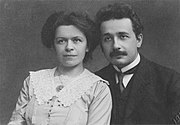 Albert Einstein and his wife Mileva Maric