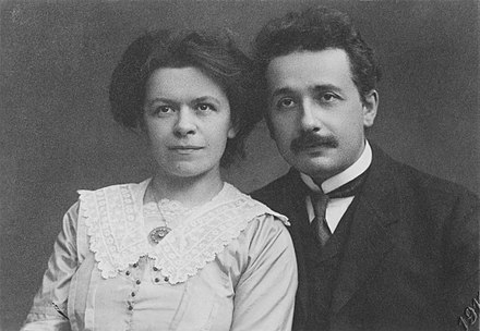 Albert and Mileva Einstein, 1912 Albert Einstein and his wife Mileva Maric.jpg