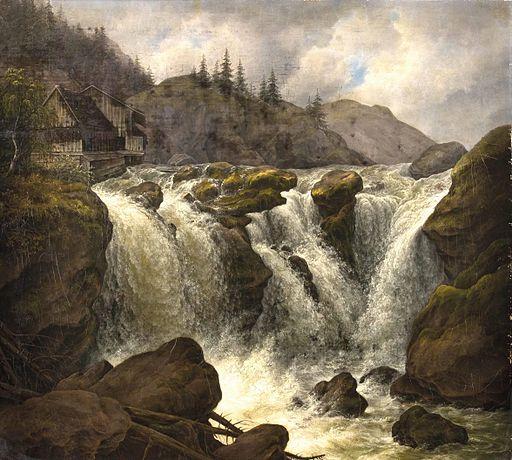 Albert de Marées Traunfall 1840