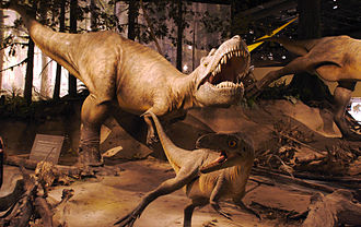 Albertosaurinae - Bronze sculptures of a pack of Albertosaurus, Royal Tyrell Museum, designed by Brian Cooley in 2007