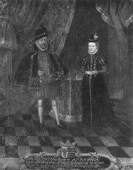 Albrekt, 1490-1568, hertig av Preussen. Anna Maria prinsessa av Braunschweig
