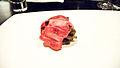 Alinea Wagyu Beef, maitake, smoked date, Blis Elixir (2771963584).jpg